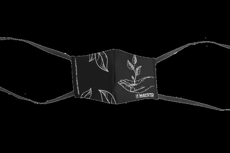 WAYSTD®- Mask -Black - White Print