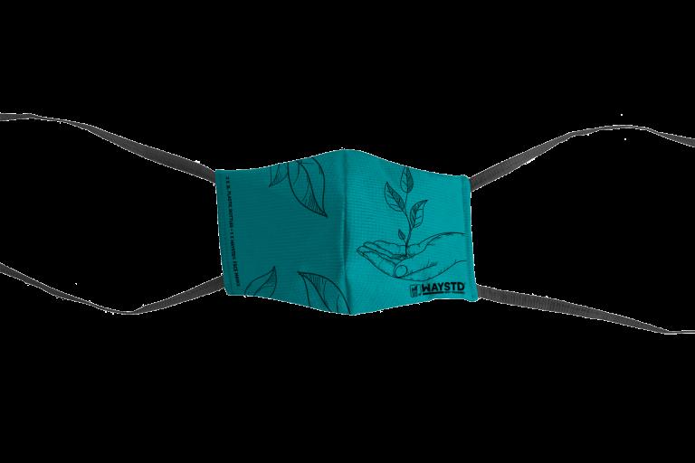 WAYSTD®- Mask - Sea Green - Black Print